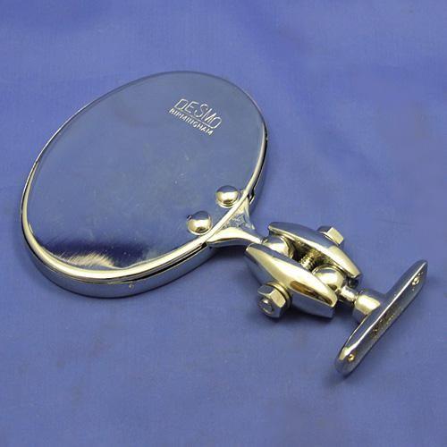 Desmo oval rear view mirror - Desmo oval rear view mirror - brass