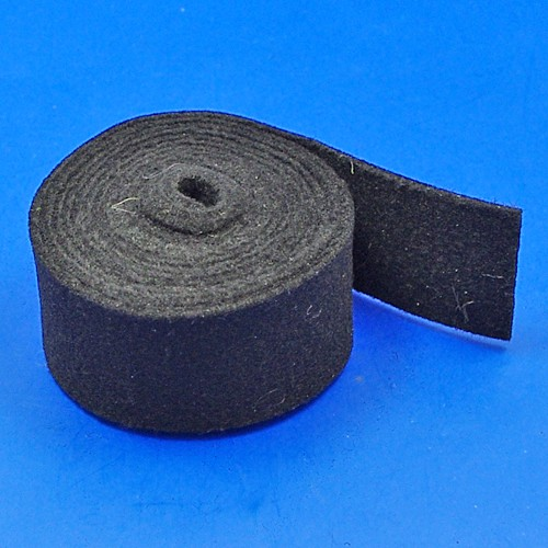 black felt strip - 38mm x 2mm