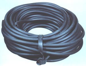 black rubber tubing - 6mm bore x 3mm wall