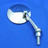 swing back mirror - round head - flat glass with straight arm A