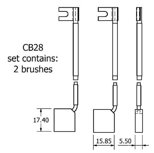dynamo and starter brush sets - CB28 dynamo brush set