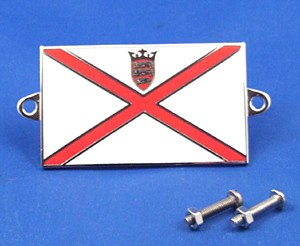 enamel nationality flag badge / plaque Jersey