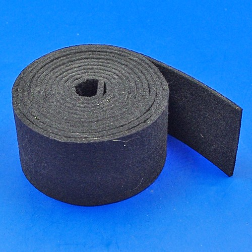 black felt strip - 50mm x 3mm