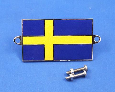 enamel nationality flag badge / plaque Sweden