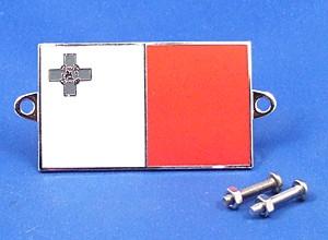 enamel nationality flag badge / plaque Malta GC