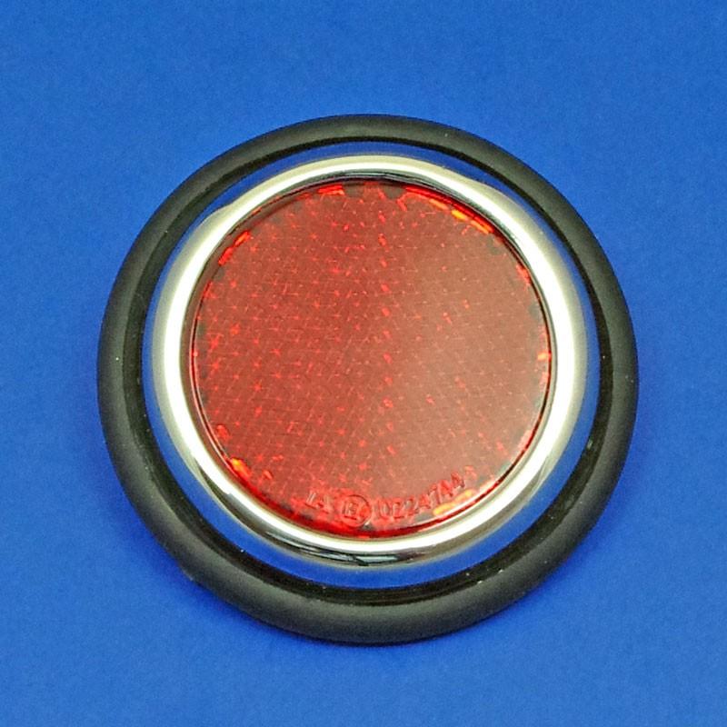 reflector with rim - Chrome