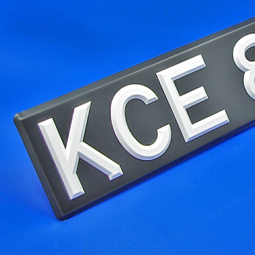 vehicle number plate - white digit