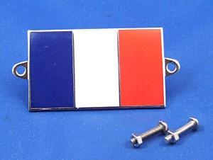 enamel nationality flag badge / plaque France