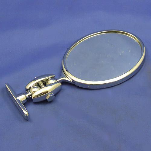 oval mirror - chrome finish