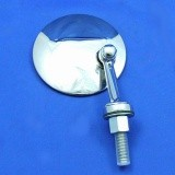 swing back mirror - round head - flat glass with short arm D