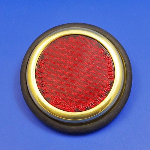 reflector with rim - brass