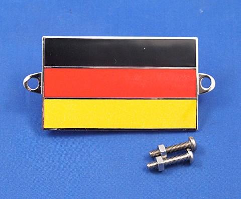 enamel nationality flag badge / plaque Germany