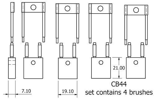 dynamo and starter brush sets - CB44 starter brush set