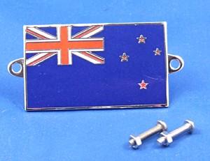 enamel nationality flag badge / plaque New Zealand