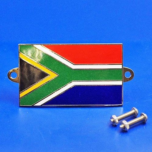 enamel nationality flag badge / plaque South Africa