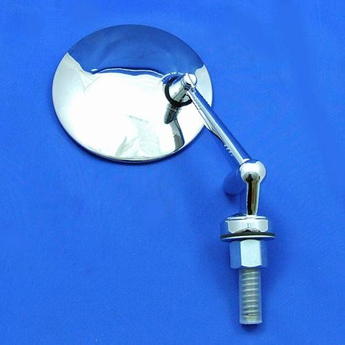 swing back mirror - round head - convex glass with adjustable arm C