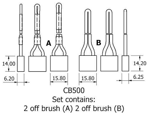dynamo and starter brush sets - CB500 starter brush set