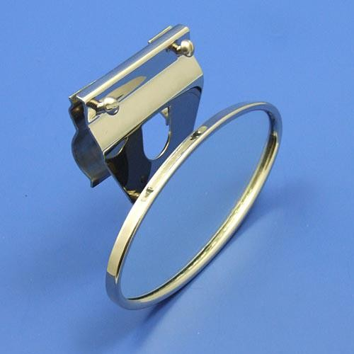 oval mirror for top rail mounting