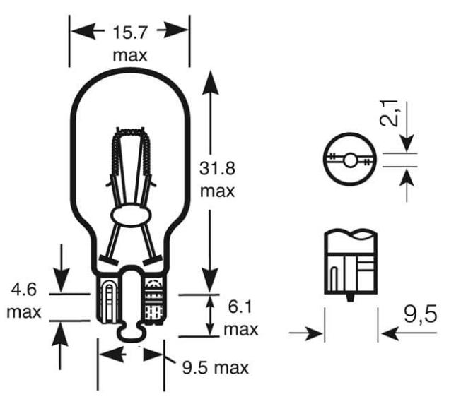 Auto bulb - B921 Clear 6V