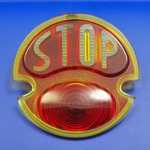 red lamp STOP lens