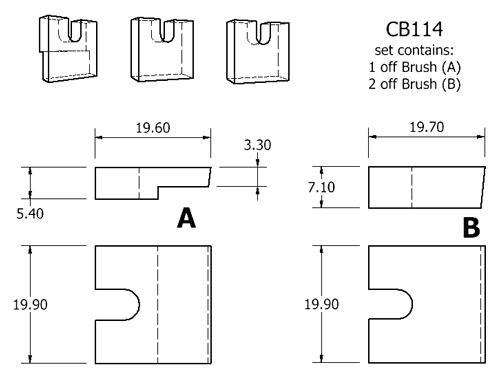 dynamo and starter brush sets - CB114 dynamo brush set