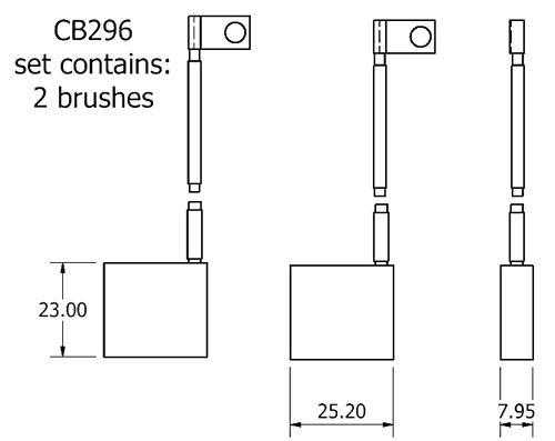 dynamo and starter brush sets - CB296 dynamo brush set
