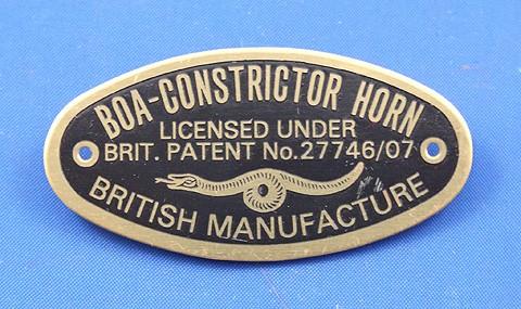 Boa-Constrictor Horn plaque