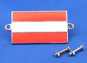 enamel nationality flag badge / plaque Austria