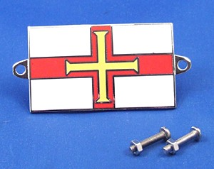 enamel nationality flag badge / plaque Guernsey