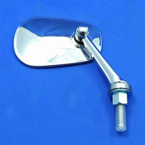 swing back mirror - oval head with straight arm