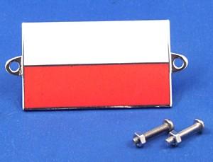 enamel nationality flag badge / plaque Poland