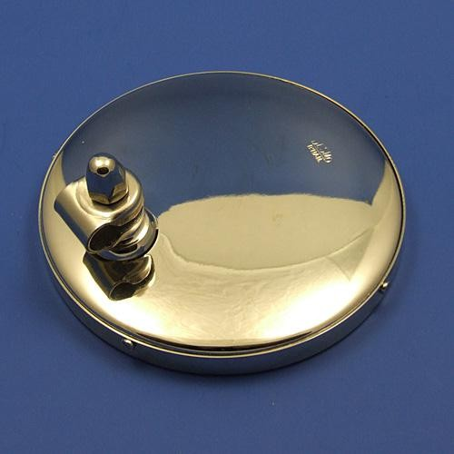 large round rear view mirror - nickel