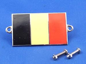 enamel nationality flag badge / plaque Belgium