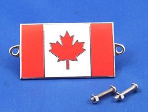 enamel nationality flag badge / plaque Canada