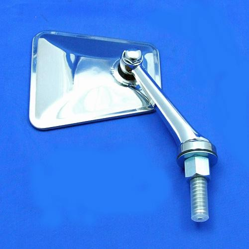 swing back mirror - tapered head with straight arm