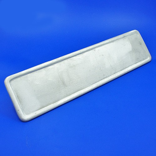 cast aluminium number backplate oblong