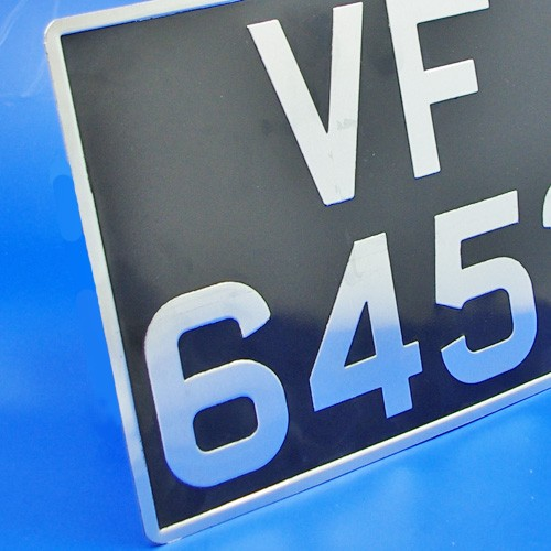 vehicle number plate - pressed