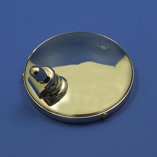 round rear view mirror - nickel