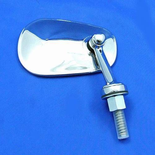 swing back mirror - oval head with short arm