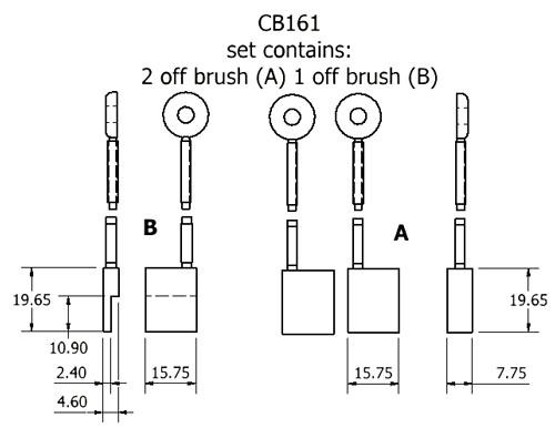 dynamo and starter brush sets - CB161 dynamo brush set